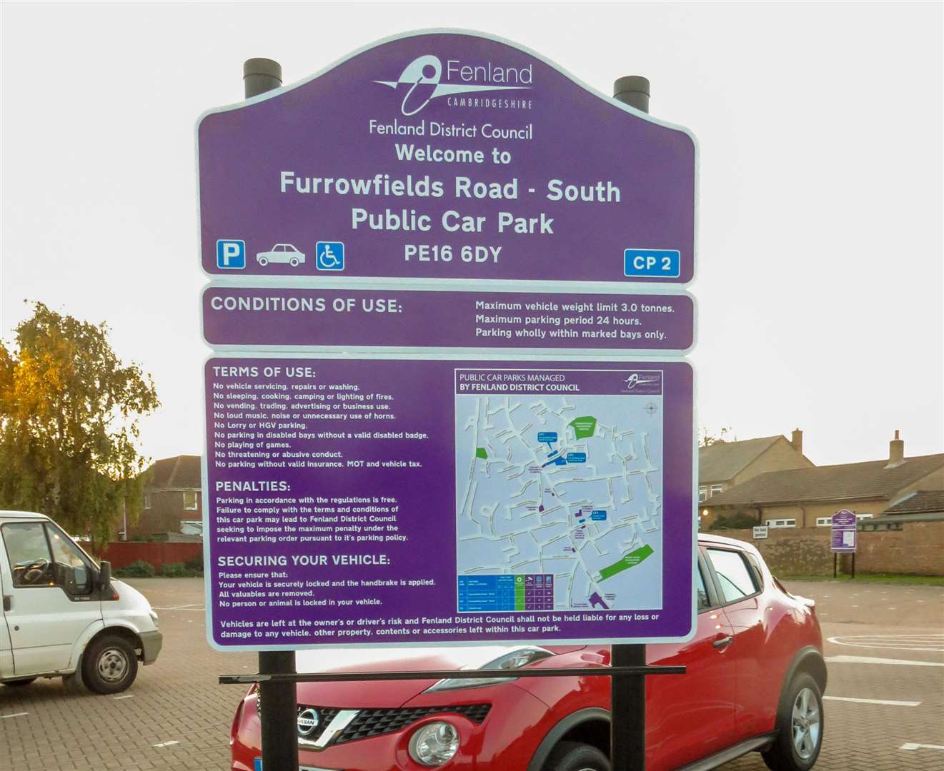 Action to curb anti-social behaviour in Chatteris car park. (6426263)