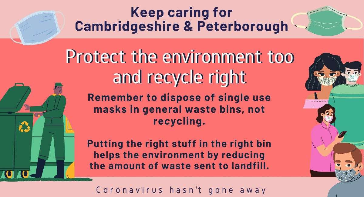 Keep caring for your environment urges Cambridgeshrie County Council. (40923859)