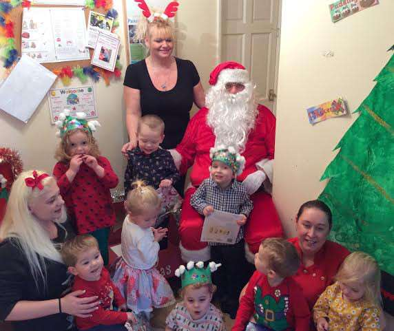 Christmas party at Little Fishes Childcare