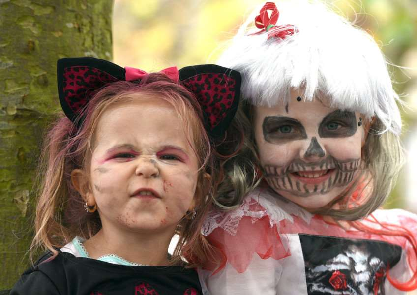 Wisbech Town Centre's Spooktacular Halloween Event''Sydney Tash 2 and Kyla Sargeant 4