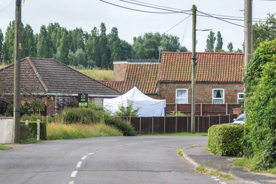 Police forensic team at a property in Stow Road, Magdalen ANL-161207-091540009