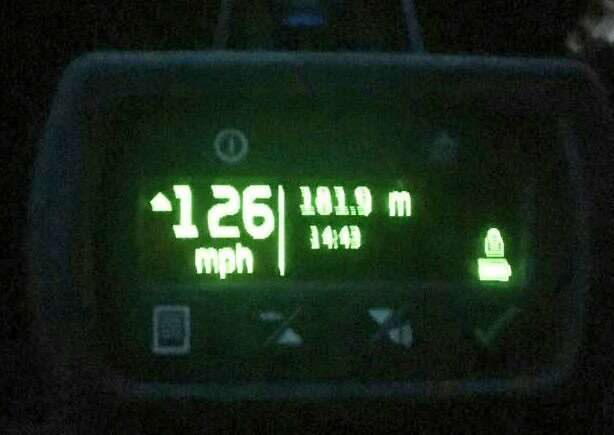 Audi driver stopped on A47 at Terrington St John travelling at 126mph. Photo: Sgt Chris Harris, Twitter.