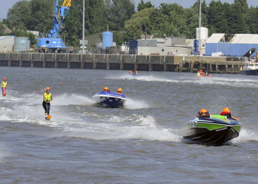 Ski Racing event King's Lynn South Quay, action begins ANL-150824-085920009