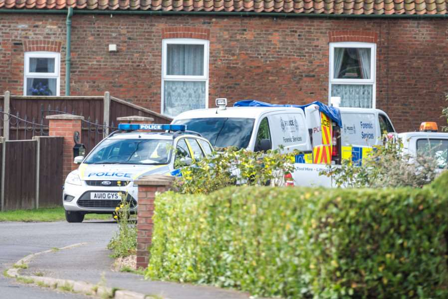 Police forensic team at a property in Stow Road, Magdalen ANL-161207-091552009