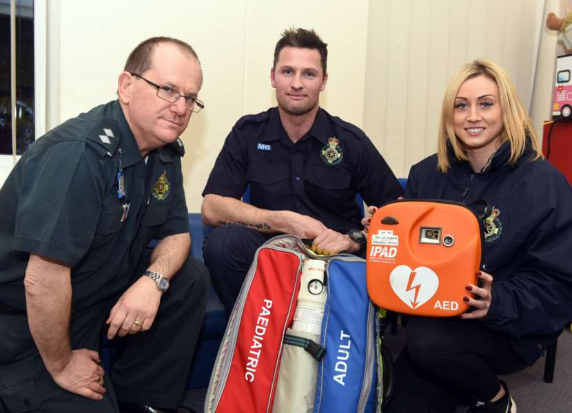 First Responder Paul Sweeney is appealing for more volunteers to join the group'left to right Steve Hammond area trainer, Paul Sweeney Coordinator and Emma Morris responder ANL-160902-082857009