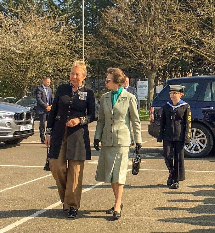 Princess Anne was welcomed by Julie Spence, Lord Lieutenant of Cambridgeshire. (8155311)