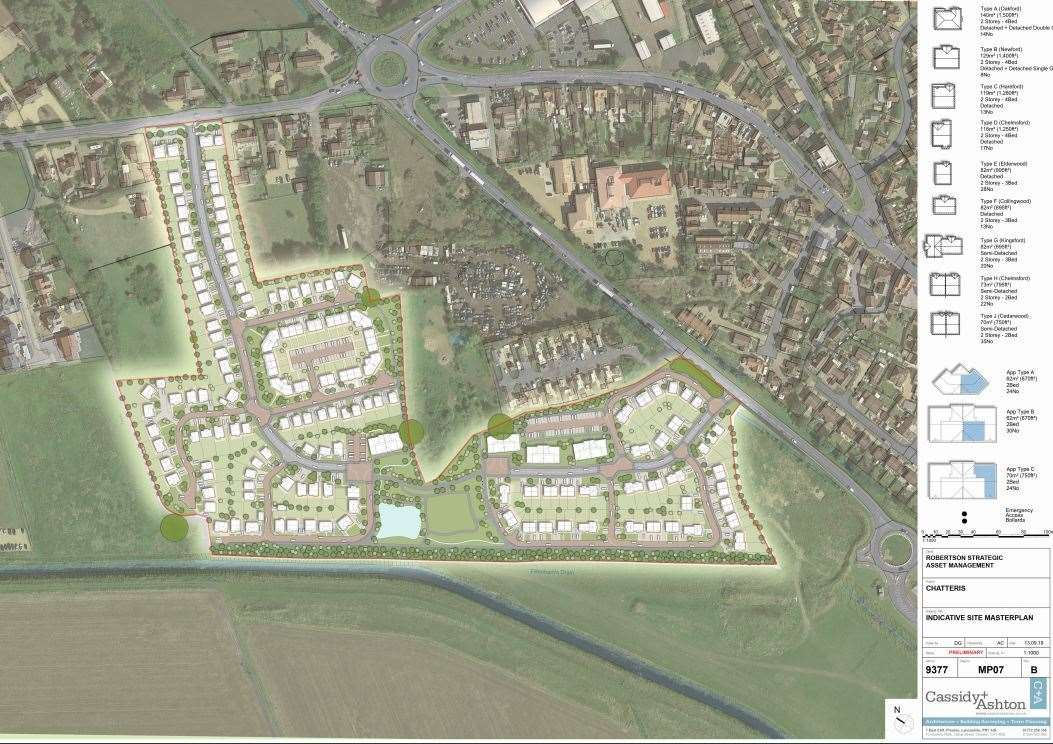 Plans to build up to 248 homes on Womb Farm in Chatteris have been approved. (36255426)