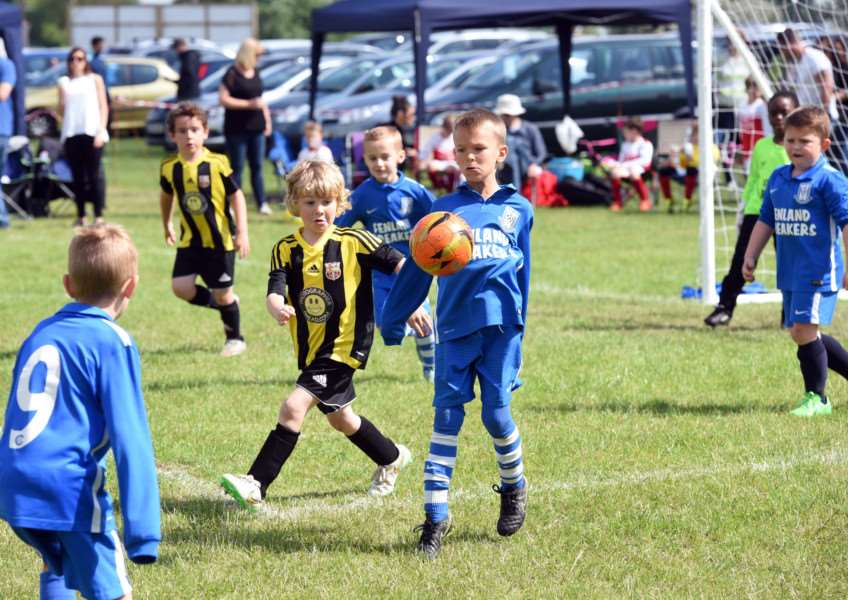 Action from March Rangers Youth Football Tournament.'March Soccer School v March Athletic ANL-160522-215037009