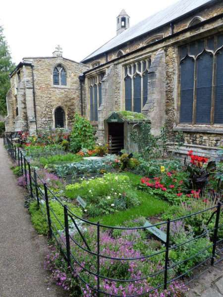 St Peter's Church Gardens in Wisbech have been awarded Gold in the annual Anglia In Bloom competition for 2017. This area of the garden commemorates 50 years of Gardener's World.