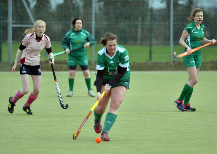 Long Sutton Hockey Club ladies in action at Peele Leisure Centre v Alford & District. Photo by Tim Wilson.