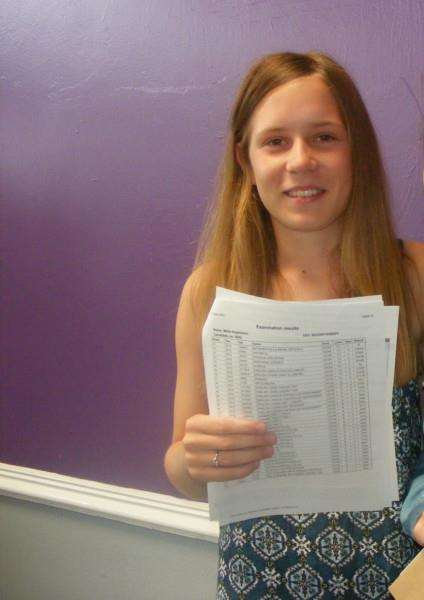 SOCCER SISTER: Millie Hopkisson collects her GCSE results at Peele Community College, Long Sutton. Photo by Jayne Simpson.