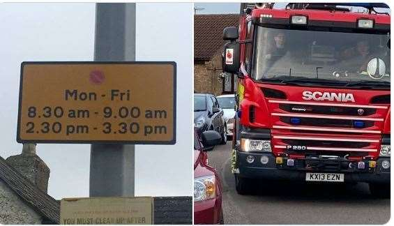Police and the fire service have been targeting problem parking in Wisbech St Mary (28528053)