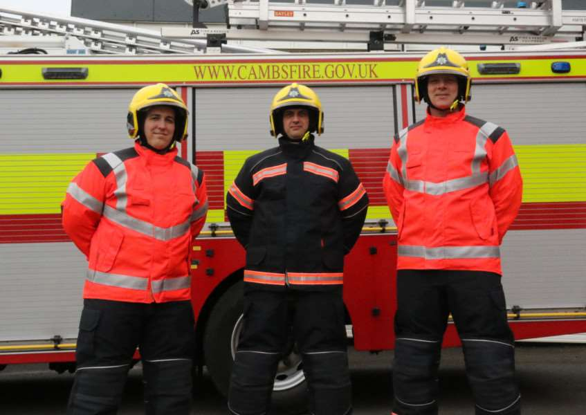 Firefighters in the new kit