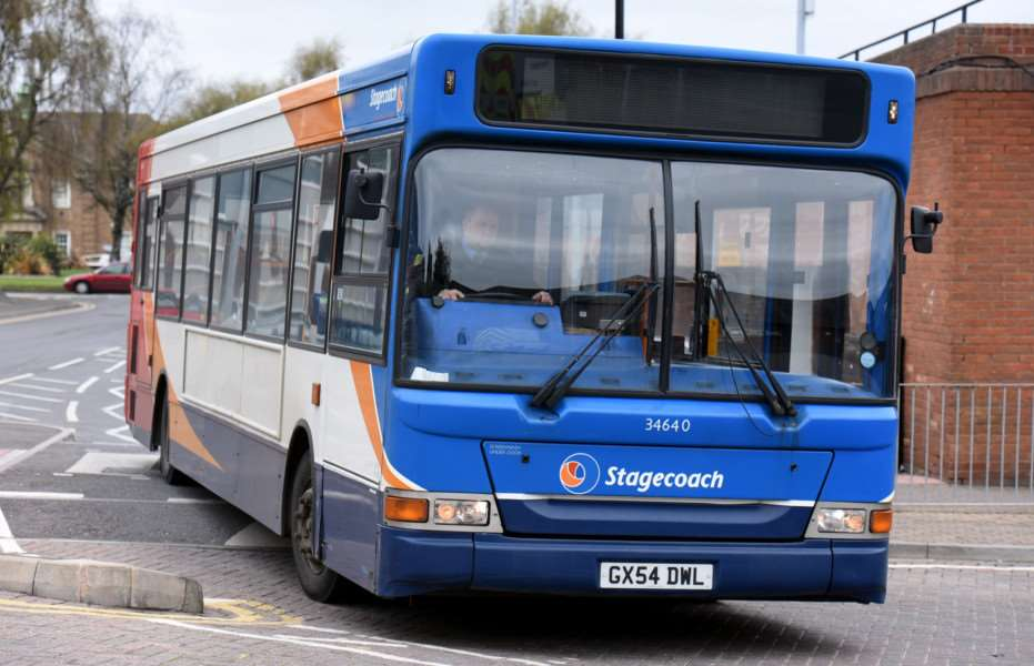 Stagecoach buses at Wisbech Horsefair