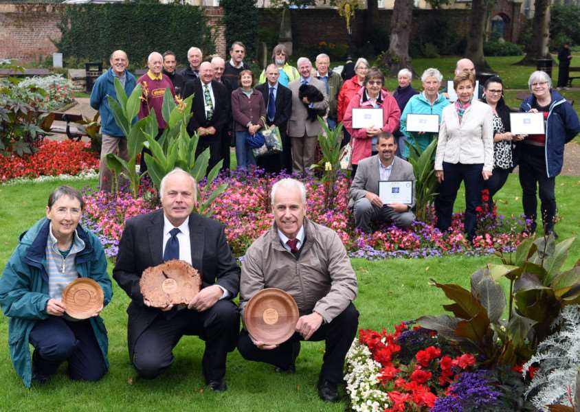 Wisbech in Bloom celebrating their success ANL-150921-140838009