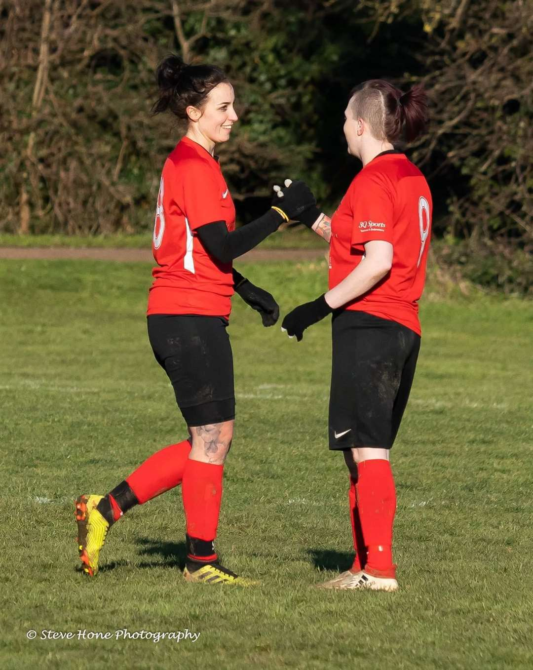 Chloe Stanborough and Sophie Swinden celebrate yet another goal (6954497)