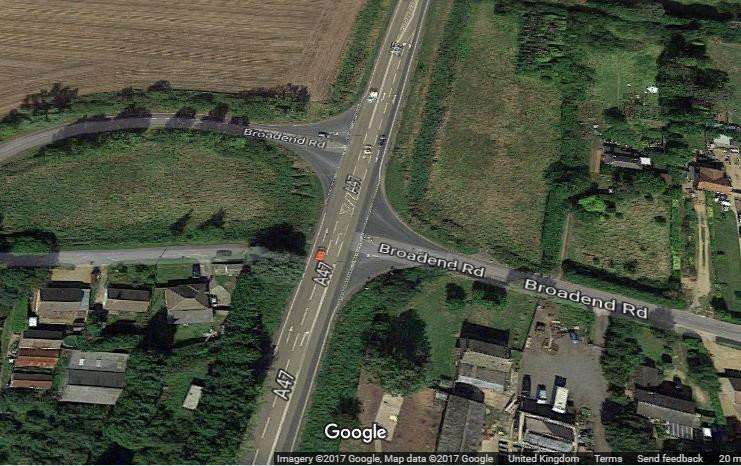 A bid has been made for government funding to improve the Broadend Road junction on the A47 at Wisbech - which in turn will help unlock land for housing.