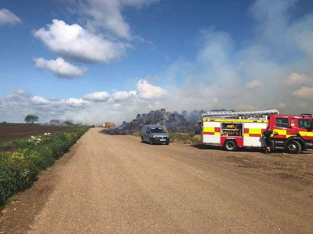 Arson attack on straw stack kept fire crews busy back in June. (15119612)