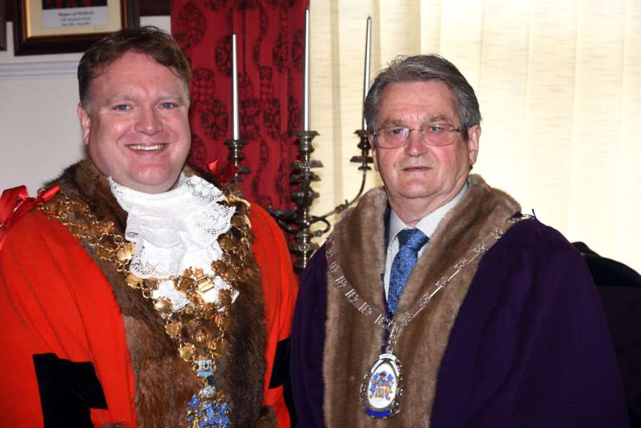 Wisbech Mayor Making'New Wisbech Mayor Steve Tierney and Deputy Mayor Peter Human
