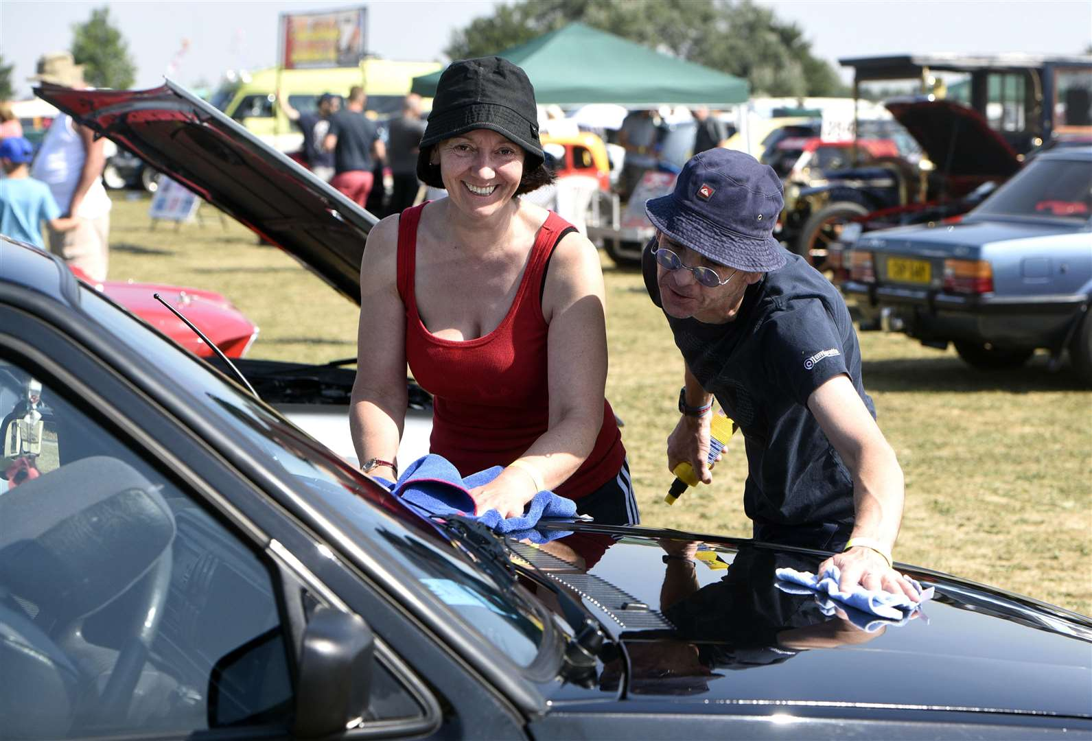 Parson Drove car show..Kat Boswell and Harry Brass. (3067598)