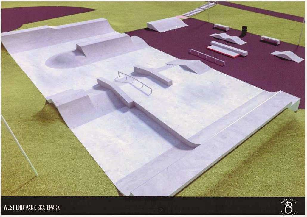 An artists impression of what the skate park will look like. (12717534)