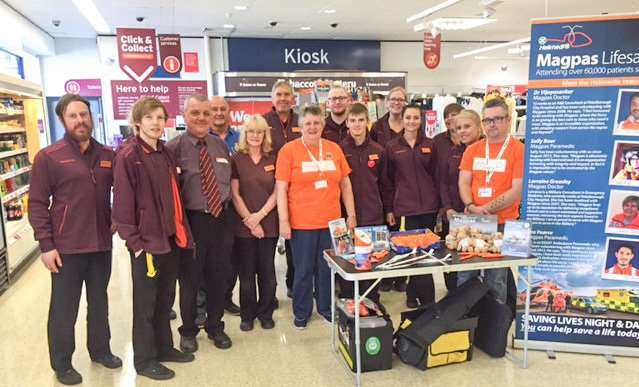 Sainsbury's March raises �3090.85 for Magpas Air Ambulance and announces new charity partnership for 2017/18.