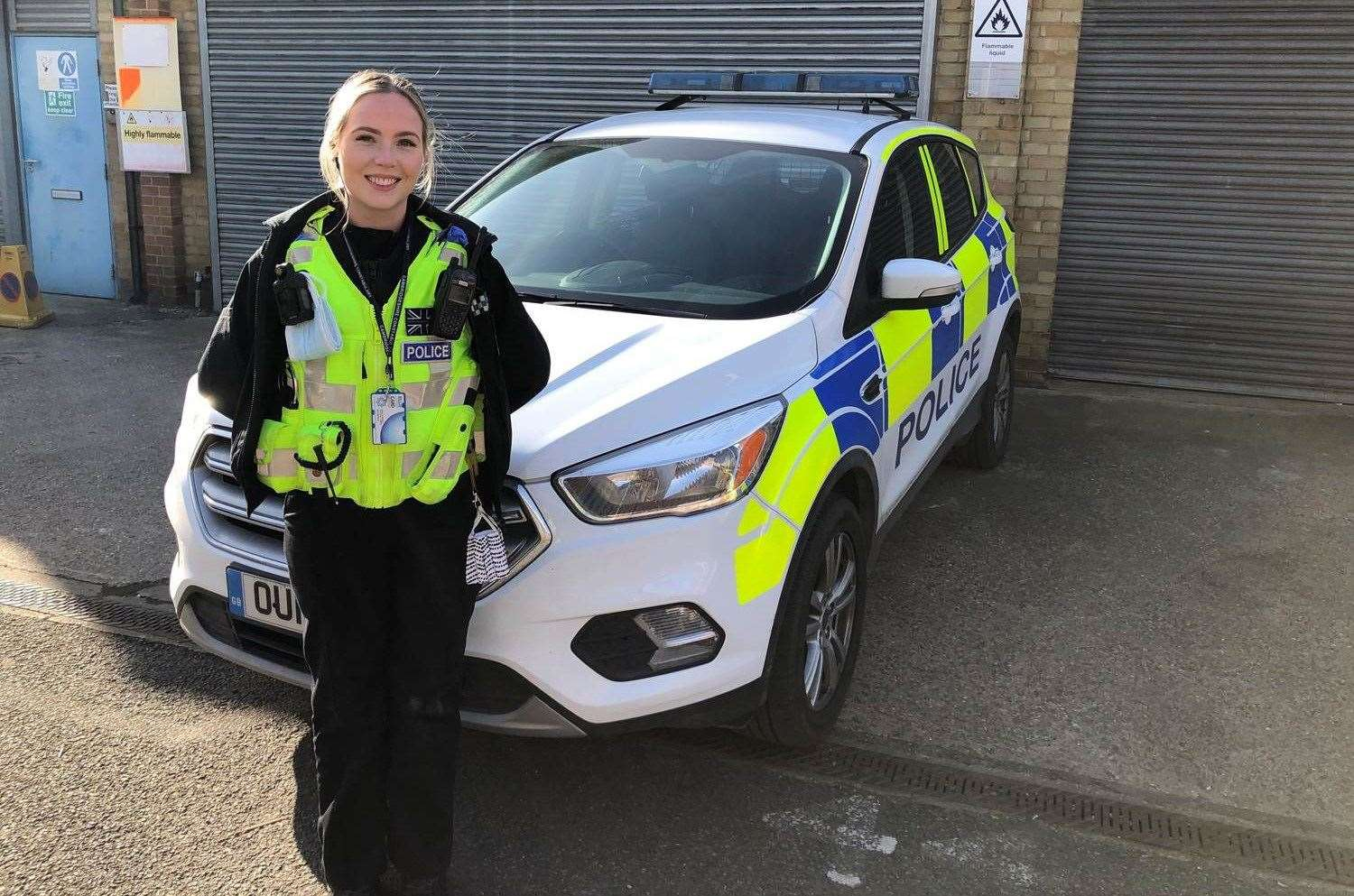 Zoe Wickison, is a legal secretary, but volunteers as a Special out of March police station. (44992480)