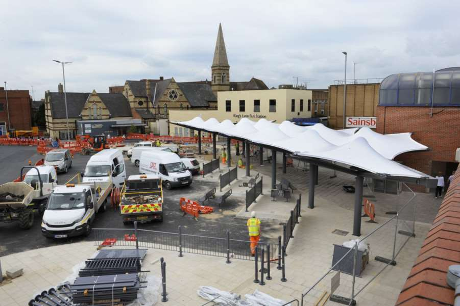 King's Lynn Bus Station, nearing Completion ANL-150625-111353009