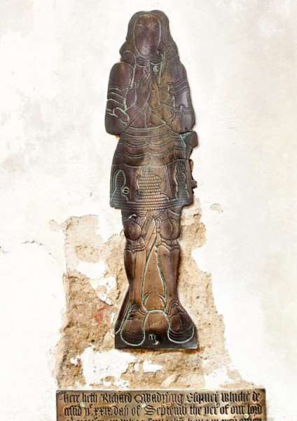 Richard Quadryng's brass effigy was originally in a Lincolnshire church until a vicar decided to 'take it' - but no one knows exactly why he took it.