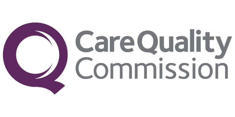 Care Quality Commission logo.