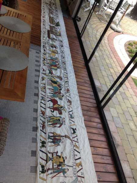 A section of the Bayeaux tapestry already completed by Mia Hanson.