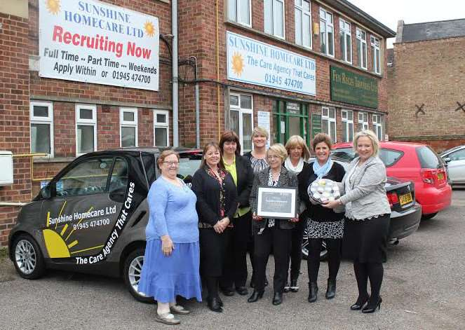 Sunshine Care Home receives its recognition from Peterborough College.