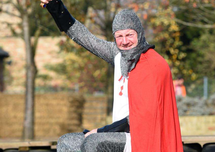 Tales of Camelot half-term activity at Church Farm, Stow Bardolph.'Wayne Cooper White Knight ANL-151031-141345009