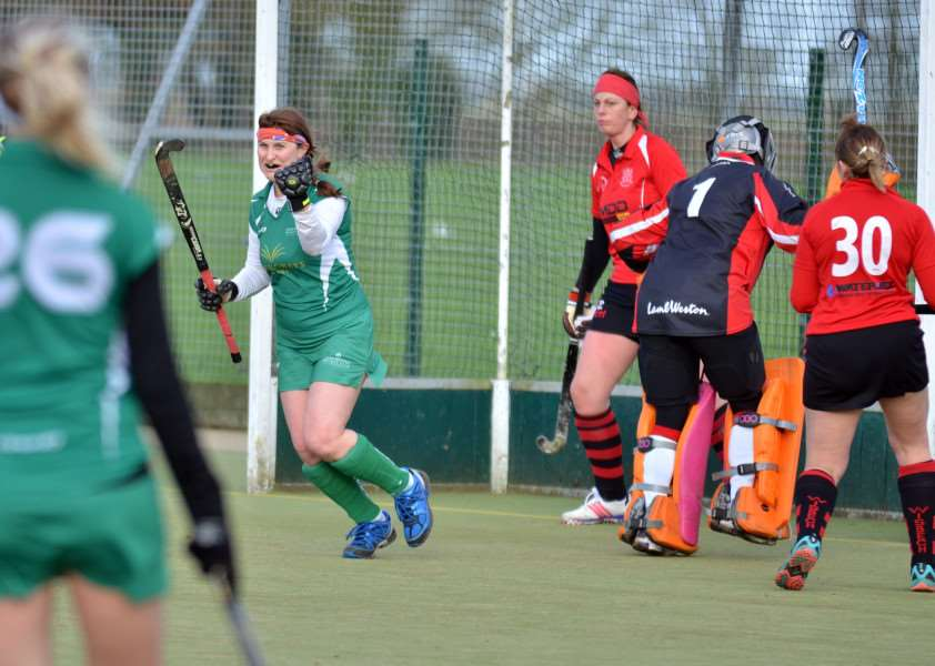 "Lisa Baker nets for Long Sutton ladies 1sts hockey team which has moved a step closer to getting a new pitch and floodlights upgrade thanks to a �30,000 grant from the National Hockey Foundation which described Long Sutton Hockey Club as ""vibrant and active"". Photo by Tim Wilson."