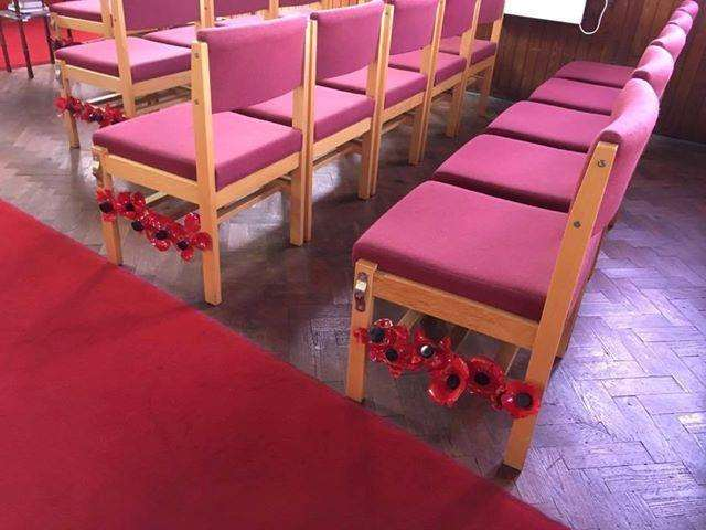Members of Emneth community have been creating poppies for a Remembrance Day display in the village Methodist chapel. (4016722)