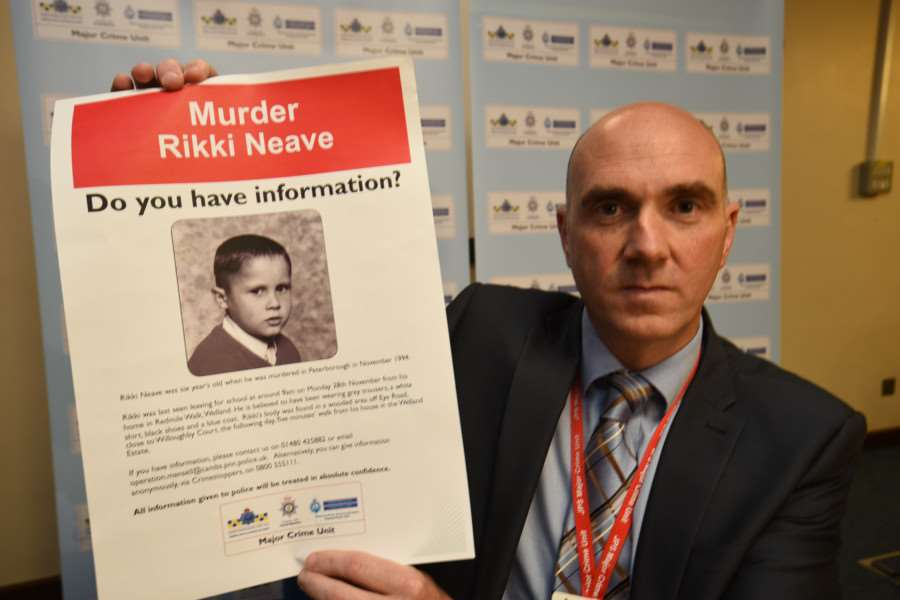 Rikki Neave murder enquiry re-launch at Hinchingbrooke Police HQ with Detective Supt Paul Fullwood EMN-151106-162516009