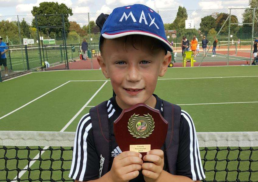 Max Tjurin aged 7 is Cambridgeshire 8 & Under County Champion.