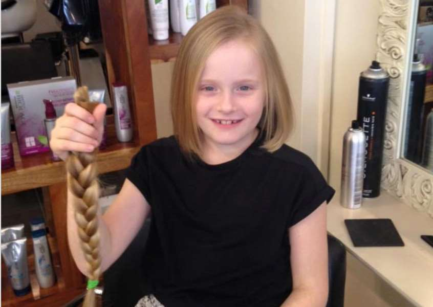 Ella Howell has raised �800 for the Little Princess Trust by having hair cut