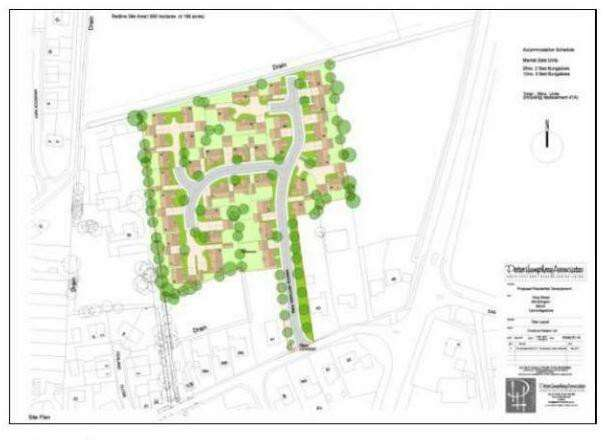 Reason Homes want to build 38 bungalows on a site off King Street in Wimblington.