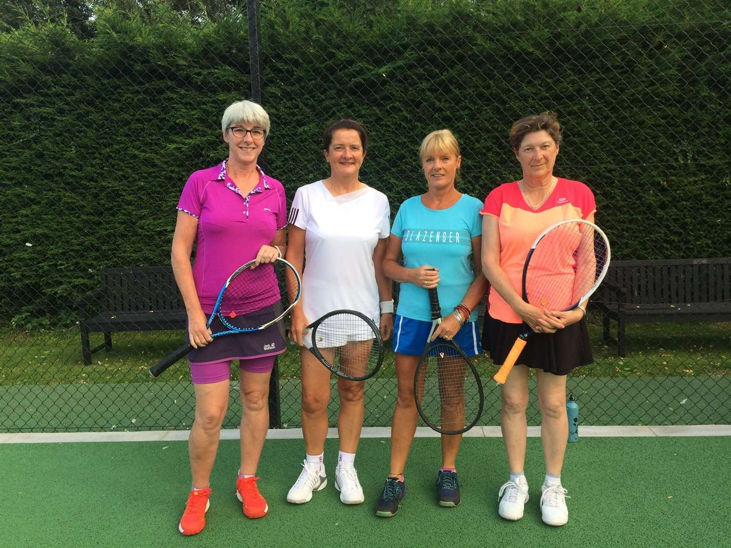 Wisbech tennis Jane Page, Sheila Hennessy, Jacqui West and Wendy Cropp (15105408)