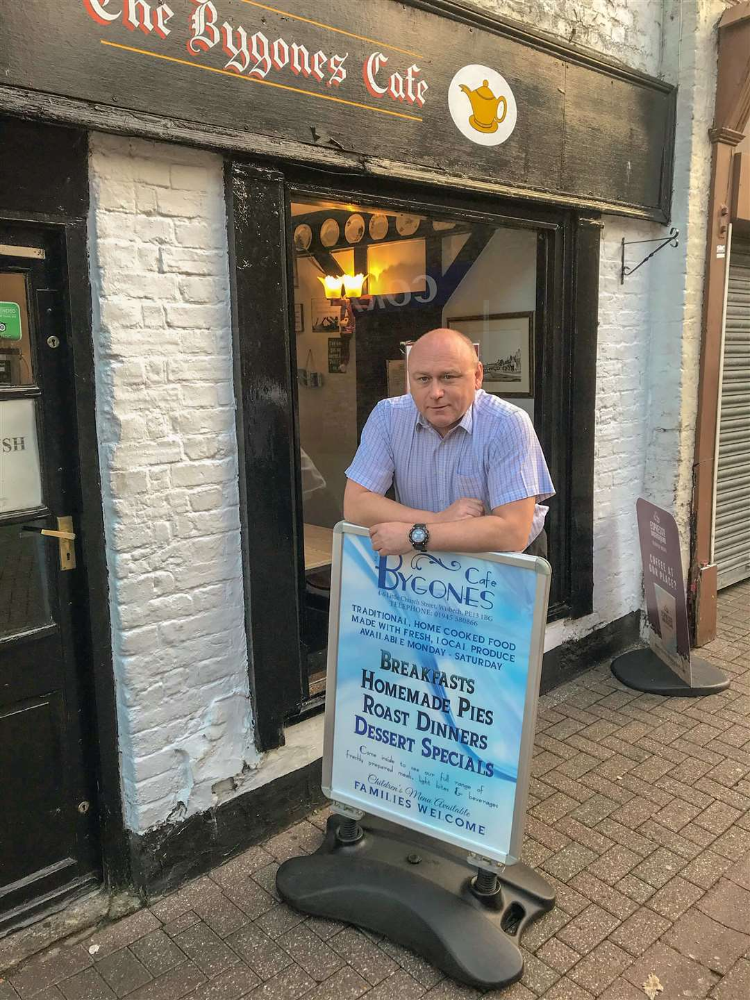 Andy Maul from Bygones Cafe in Wisbech has agreed to open his premises to the homeless on a Tuesday evening.