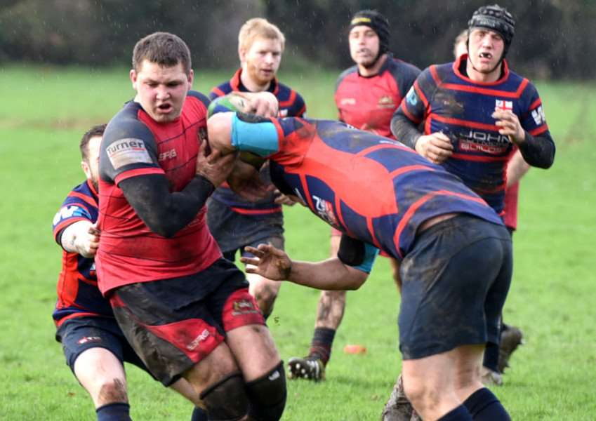 Wisbech rugby 1st XV v Thurston Action ANL-161101-085450009