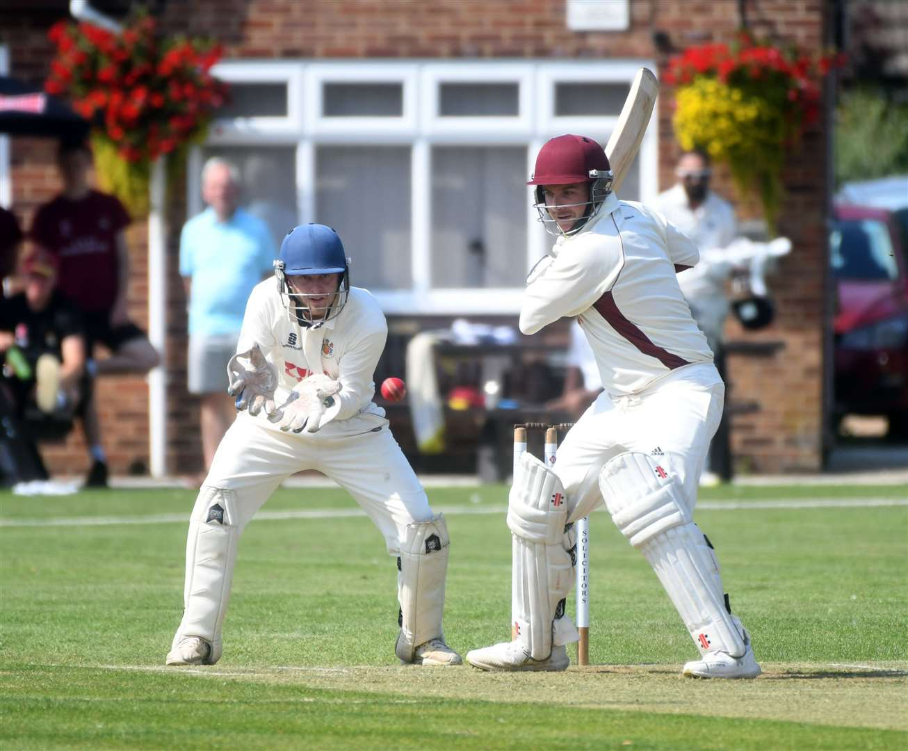Wisbech v March Cricket Action..Andrew Mills. (15707954)