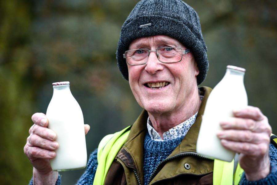 Chris Ketteringham who has retired after 60 delivering milk in Wisbech