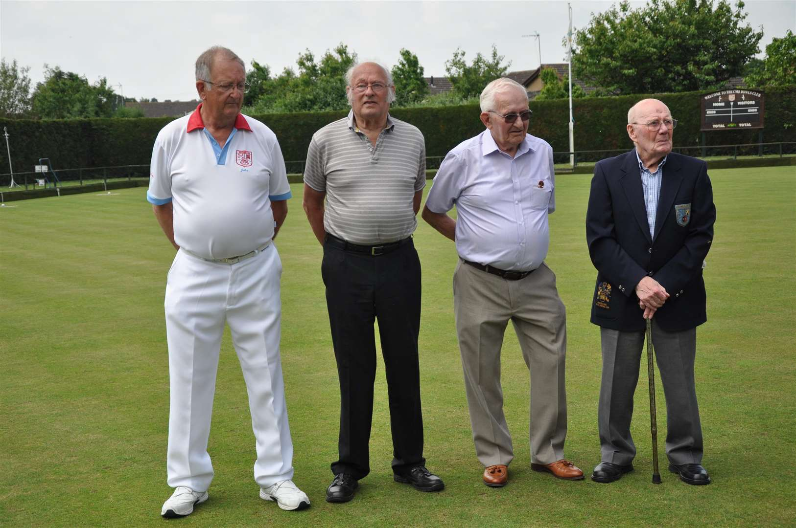 Founder members left to right John Fox Treasurer & Greenkeeper, Terry Semper, Peter Haddon and Terry Slade. (2480215)