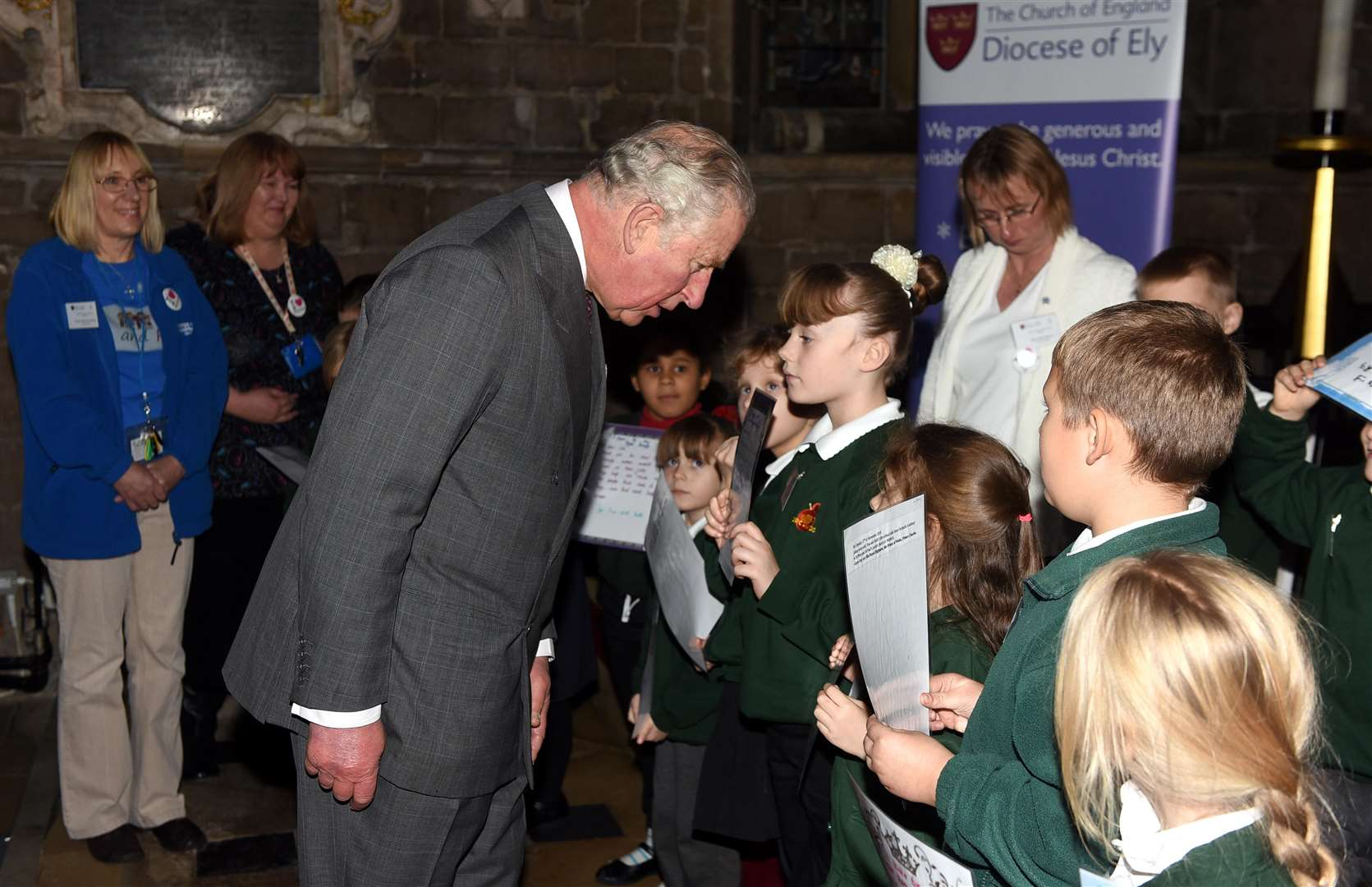 Prince Charles and Camilla Duchess of Cornwall visit to Wisbech..Orchards School. (5664222)