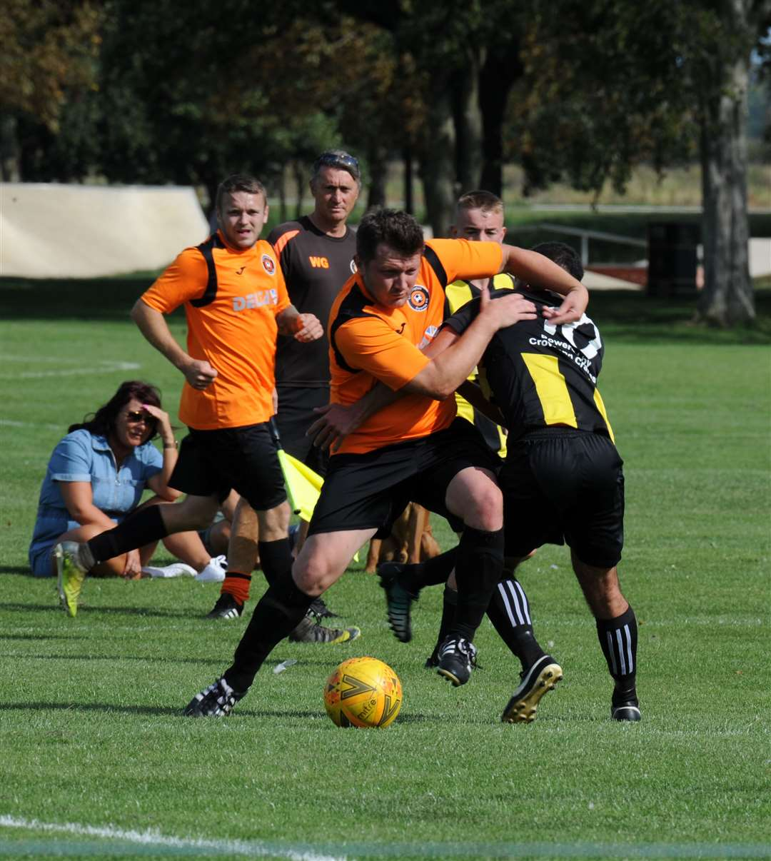 Action from Leverington's game at Crowland last year.