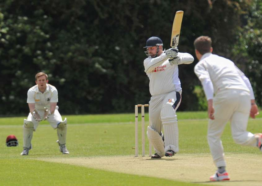 Wisbech at home to March on Saturday. Wisbech batsman Sam Albutt. ANL-150606-170255009