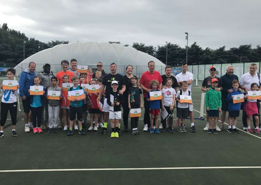 Wisbech Tennis Duo at The Aegon Tennis Open, Nottingham'Having won the Wisbech Tennis Club Quorn family tournament last month, daughter and dad doubles pair of Libby and David Hoyles were invited to the Quorn Finals Day at Nottingham Tennis Centre on Saturday 10th June.