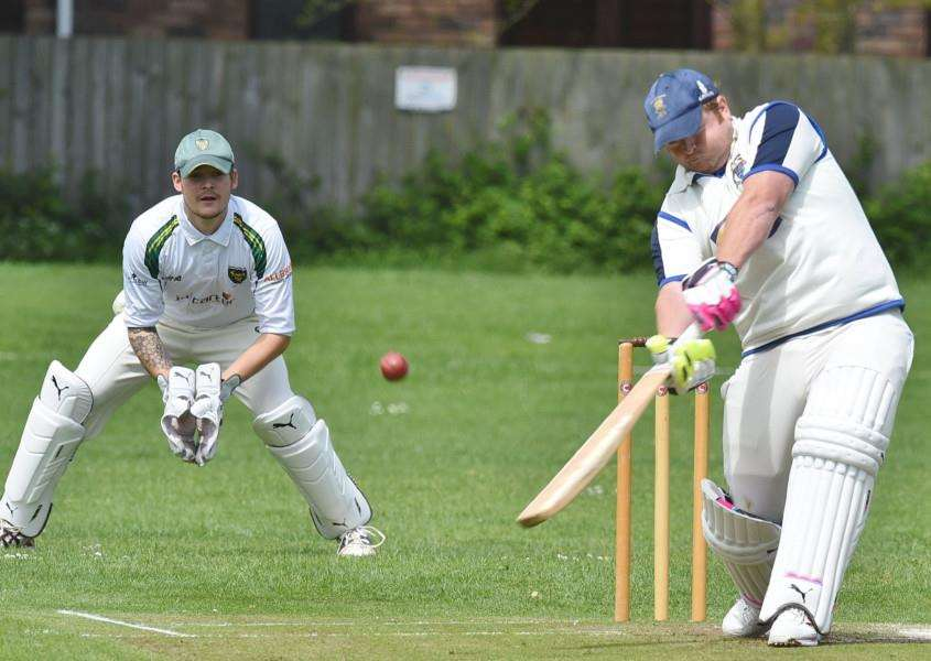 Dan Young cracked 136 for Orton Park against Hampton.